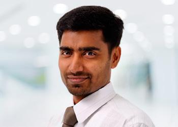 Close up image of Babu Narayan
