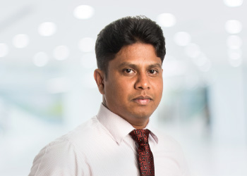 Close up image of Janaka Wijesinghe