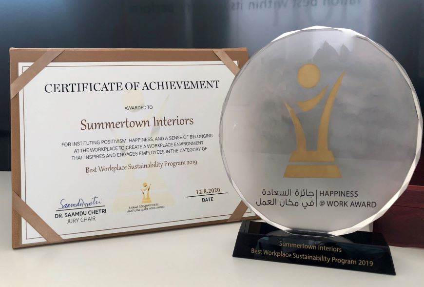 Happiness Award for Summertown Interiors