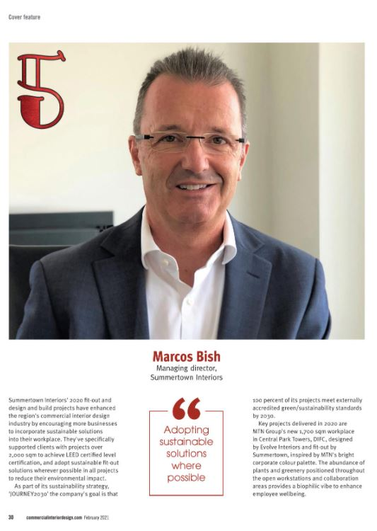 Summertown's Marcos Bish featured in Commercial Interior Design Publication