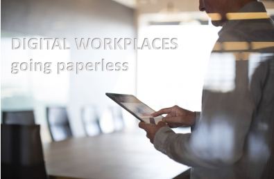 digital workplace cover - man holding a tablet