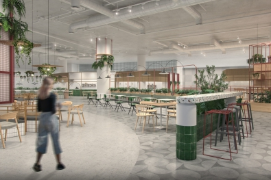 Times Square Center's Food Court Interior Plan
